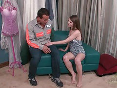 Alice march teases him and gets eaten out tubes