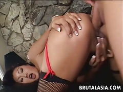 Impeccable asian hottie lucy lee gets ass banged hard tubes