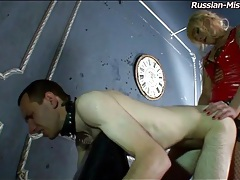 Doggystyle strapon fucking of sub asshole tubes