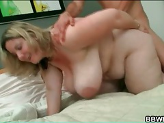 Bbw doggystyle fuck makes fat titties swing tubes