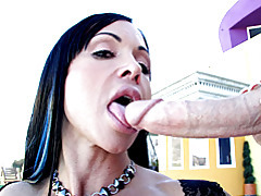 Cocksucking and titjob outdoors tubes
