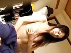 Skinny girl plays with her pussy tubes