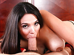 Milf in thong gives pov blowjob tubes