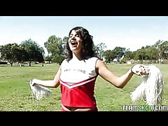 Stupid cheerleader fucked by her prof tubes