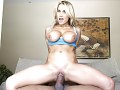 Massive dick stretches blonde tubes