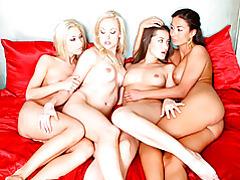 Lesbians in lingerie group sex tubes