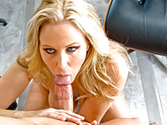 Pov blowjob with milf tubes