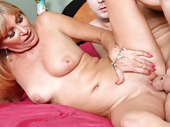 Hardcore lingerie mom in heels fucks tubes