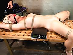 Electro shock for bondage girl tubes