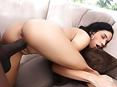 Black dick stretching skinny girl tubes