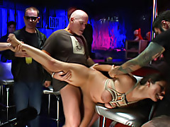 Tied girl fucked in a bar tubes