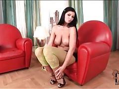 Curvy girl christina jolie models pantyhose tubes