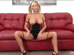 Sexy black lingerie on blonde tasha reign tubes