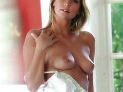 Soft white lingerie is sexy on courtney dillon tubes