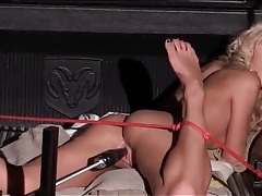 Outdoor dildo machine sex with chelsey lanette tubes