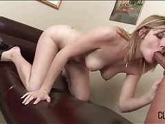 Beauty strips from dress to suck his cock tubes
