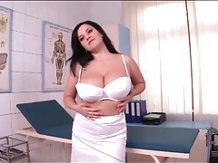 Sexy nurse has incredible big tits tubes