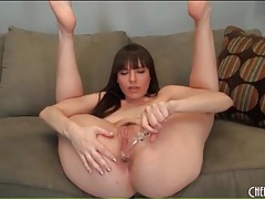 Dana dearmond ass fucks glass dildo tubes