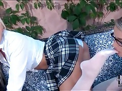 Blonde schoolgirls lick sexy feet outdoors tubes