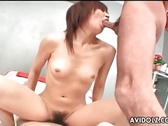 Japanese slut is happy to take a hot facial tubes
