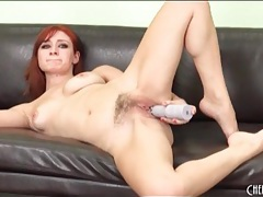 Redhead violet monroe gets it on with her toy tubes