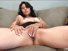Dana vespoli masturbates in little black dress tubes