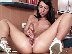 Teen dildo sex filmed in sexy close up style tubes