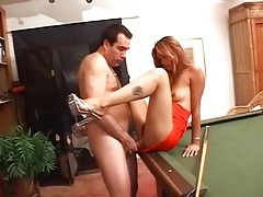 Tall skinny asian gives white guy a blowjob tubes