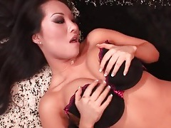 Asa akira sucks hard cock in black panties tubes