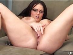 Chubby mackenzie pierce masturbates her cunt tubes