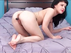 Little black dildo turns on katie st ives tubes
