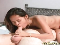 Sensual asian blowjob looks hot with slut tubes