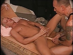 Daddy uses dildos to loosen that bottom ass tubes