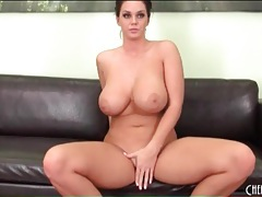 Curvy girl blowjob makes his hard cock cum tubes