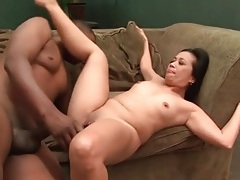 Curvy asian takes black cock in bald pussy tubes