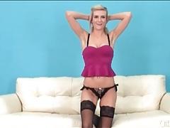 Sexy amanda tate in lusty black stockings tubes