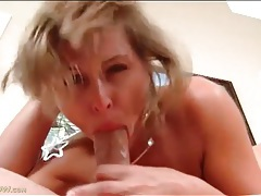 Gagging milf blowjob leaves his dick all wet tubes