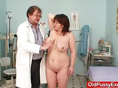 Huge tits plumper mature gyno doc check up tubes