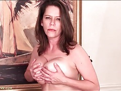 Milf jane russell fondles her big natural tits tubes