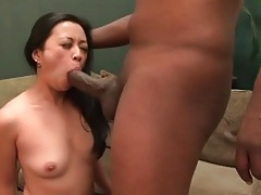Black dick sucked by a horny asian tubes