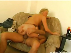 Dutch blonde milf fucks good tubes