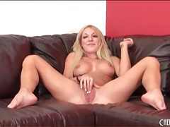 Amy brooke drops pink lingerie and teases ass tubes