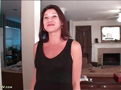 Solo striptease with cute milf ava austin tubes