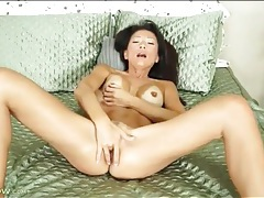 Beautiful asian mommy with big tits masturbates tubes