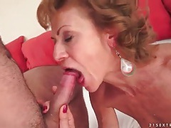Skinny granny fucked in missionary by young dick tubes