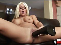 Crista moore fucks cunt with big dildo tubes