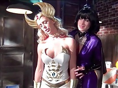 Costumed babes in lesbian femdom porn tubes