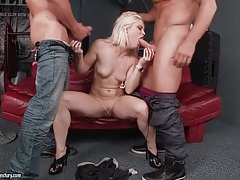 Ash hollywood sucks dicks in threesome video tubes