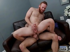 Redhead with a great beard fucked in the ass tubes