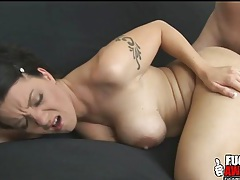 Slut does deepthroat gagging and anal sex tubes